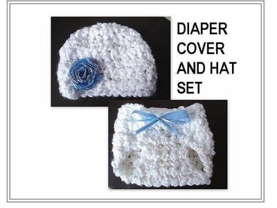 How to crochet a DIAPER COVER SET, chunky crochet, diaper cover, hat, baby clothing set
