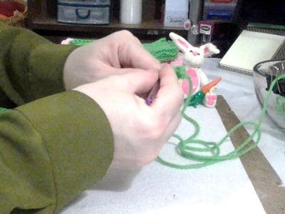 How to Crochet Gloves.Shower Glove Part 1
