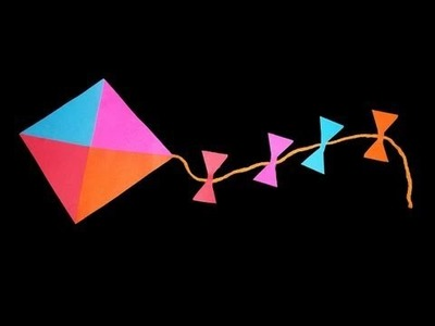 How to make a decorative paper kite - EP