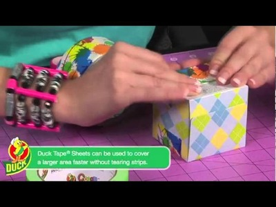 How to make a Duck Tape Coin Bank