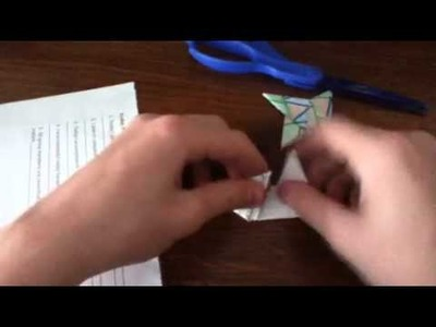 How to make a paper origami ninja star