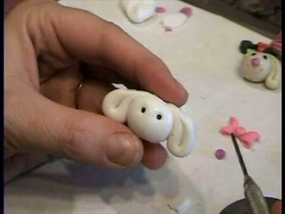 How to Make Bunny Bead from Polymer Clay.  Garden of Imagination