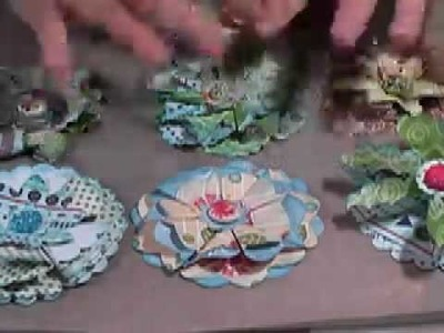 How to make flat folded flowers from circle nestabilities