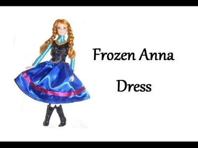 How to make Frozen Anna Dress for Dolls - Tutorial