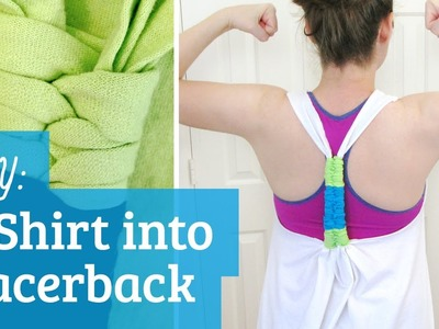 How to Make T-Shirt into Racerback Tank Top