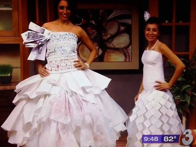 Jennyvi Dizon's Crochet Plastic Grocery Bag and Paper Dress