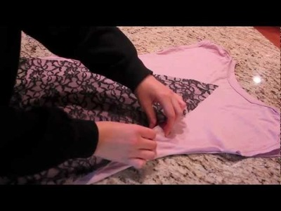 Lace Bow Back DIY T-SHirt