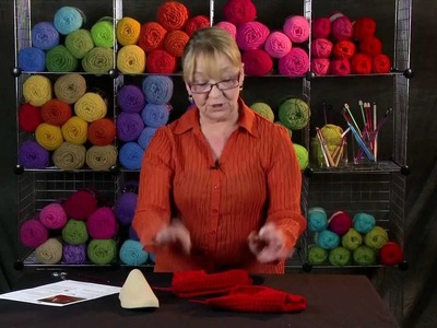 Learn to Finish the Double Sole Slippers with Red Heart