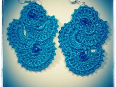 Orecchini Uncinetto Turchesi -Earrings Crochet