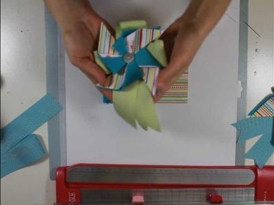 Paper & Felt Pinwheel Boutonniere Tutorial