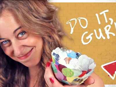 Paper Mache Craft Bowl - Do It, Gurl