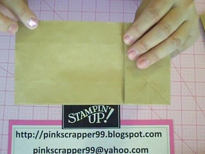 Paperbag Mini Album Tutorial Part 1 of 2