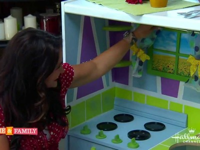 PART TWO Toddlers DIY Play Kitchen - DIY by Tanya Memme  (As Seen On Home & Family)