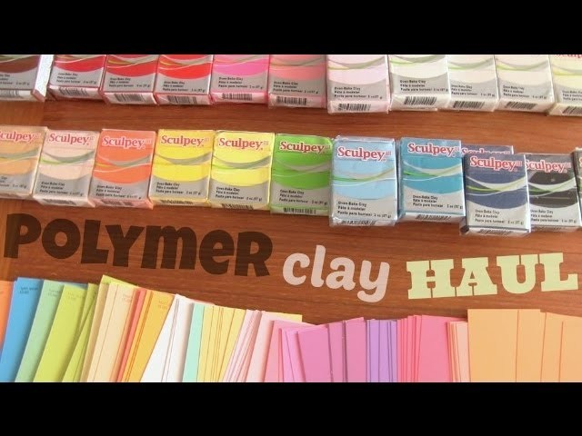 POLYMER CLAY HAUL! & other craft supplies!