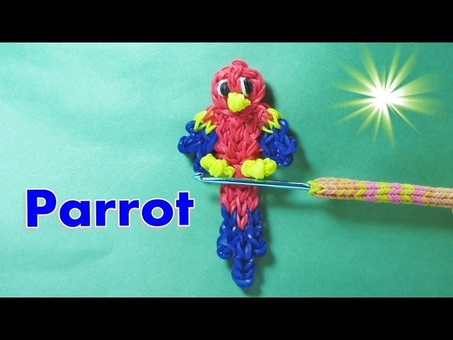 Rainbow Loom PARROT Charm (Maccaw, DIY Mommy Animals)