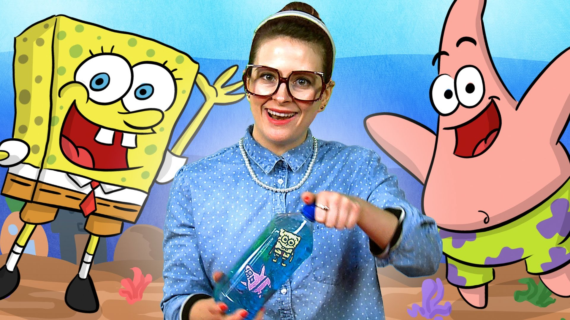 """Spongebob"" inspired Craft - Ocean in a Bottle w. Crafty Carol at Cool School"