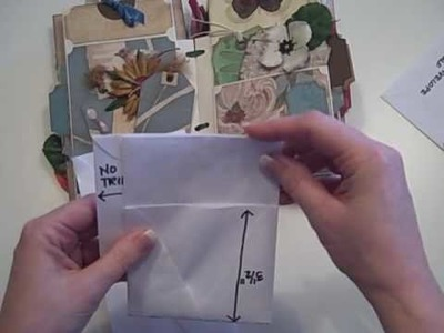 Tall Envelope Mini Scrapbook Album Tutorial