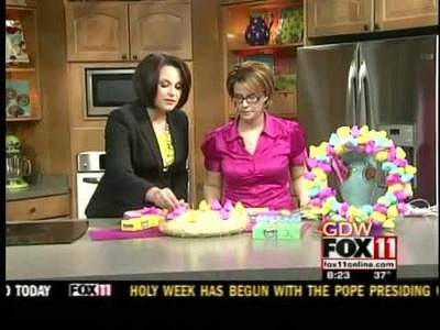 The Quirky Crafter makes a Peep wreath