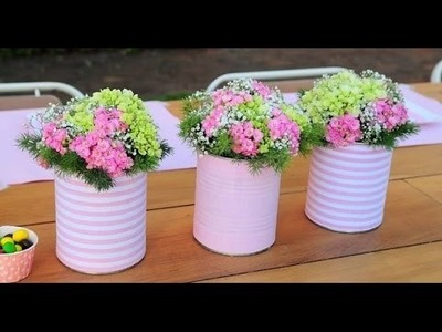 20 tin can craft ideas for flower vases and plant pots