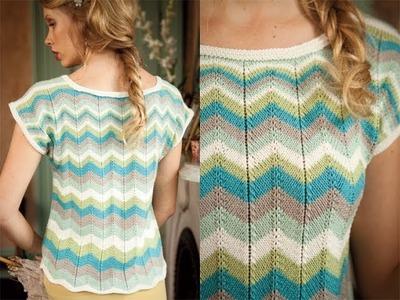 #6 Color Zig-Zag Top, Vogue Knitting Spring.Summer 2012