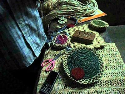 Banana fibre craft making 1