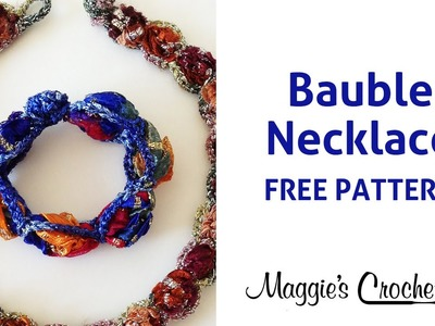 Bauble Necklace Crochet Free Pattern Right Handed