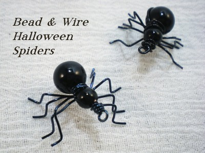 Beaded Halloween Spider Video Tutorial