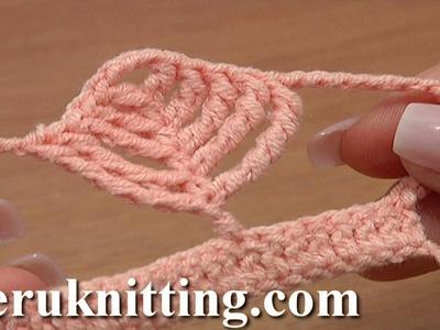 Crochet Complex Leaf Stitch Tutorial 22 Crochet Tall Stitches