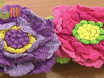 Crochet Large Flower Tutorial 62 Part 2 of 3 Crochet Large Petals In Rows