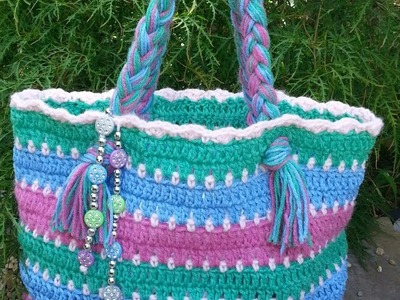 #Crochet Summer Beach Bag Free #TUTORIAL DIY crochet