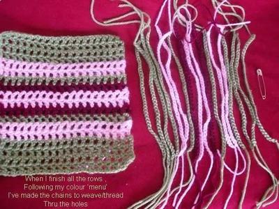 Crochet Tartan. Plaid~ The Basics~
