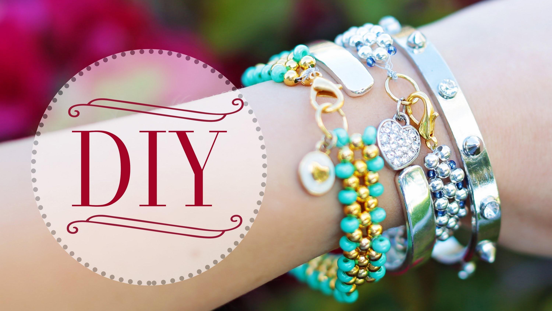 DIY Beaded Charm Bracelets {Ft. PaperPastels}