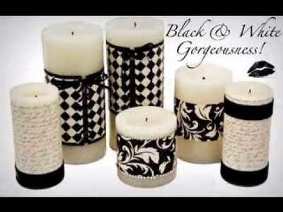DIY candle decorating ideas