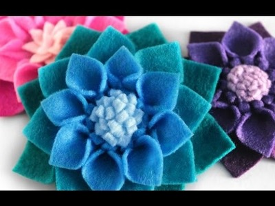 DIY Felt Flowers - No Sew Fabric Flower Tutorial