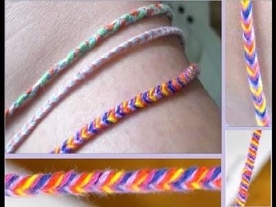 DIY: Fishtail Braided Bracelet.Anklet