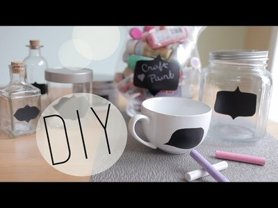 DIY How to Make Chalkboard Containers for Home Organization by ANNEORSHINE