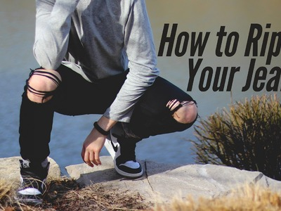 DIY How to Rip Black Jeans - Distressing Tutorial