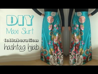 DIY Maxi Skirt│Collaboration with Hashtag Hijab