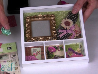 DIY Mini-Shadowbox Art with Aleene's Tacky Dots!