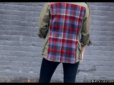 D.I.Y. Patchwork Army Jacket | MTV FORA