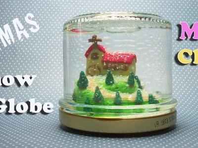 DIY Polymer clay Christmas Snow globe - Palla di neve - Bola de nieve navideña