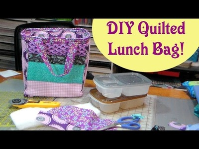 DIY Quilted Reversible Lunch Cooler bag!