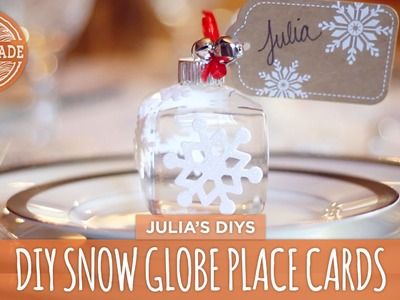 DIY Snow Globe Place Cards - HGTV Handmade