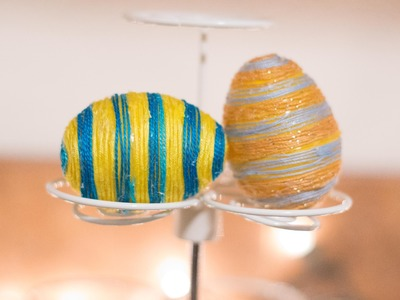 DIY String Covered Decorated Easter Eggs!