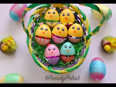 DIY Water Marble Chick Easter Eggs (Using Nail Polish!)