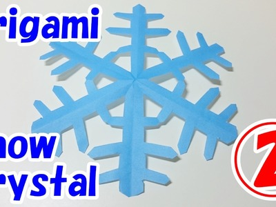 Easy Origami Christmas Decorations For Beginners!! Snow Crystal