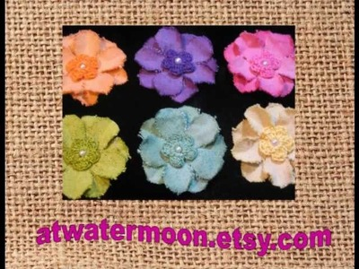 Fabric flowers & crochet flowers