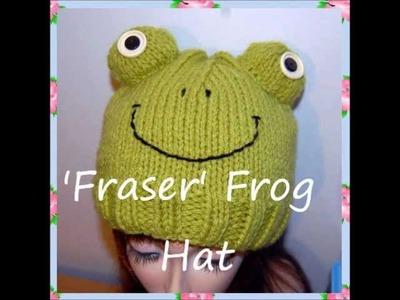 Fraser Frog Hat Chunky Yarn Knitting Pattern
