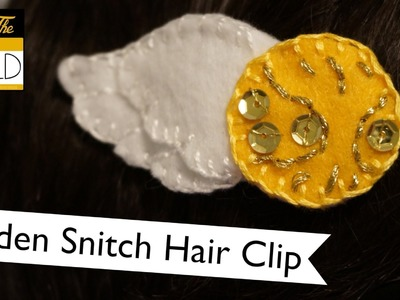 Golden Snitch Hair Clip Tutorial #bethegold