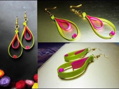 Handmade jewelry quilling paper earrings Latest model earrings  Earrings Making video